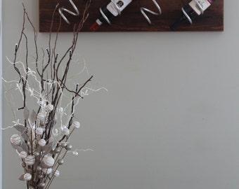 unique weathered rustic hemlock wine rack gift wall mounted wine rack wedding