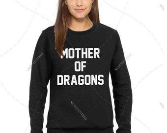 "Unsisex - Oversized - Premium Retail Fit ""Mother of Dragons"" Ladies Fit CLassic Crewneck Sweater Jumper Fleece (S-XL+)"