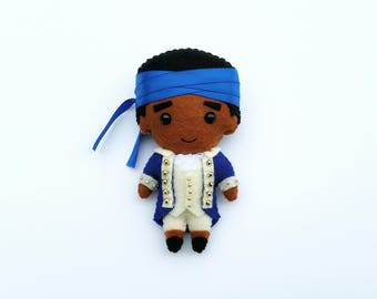 Hercules Mulligan Felt Plush Plushie Doll or Ornament