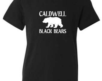 Caldwell Black Bears Youth Size T-Shirt