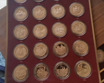 200 Proof Mint Coins! History of the United States Coins Solid Bronze Set 1776-1975