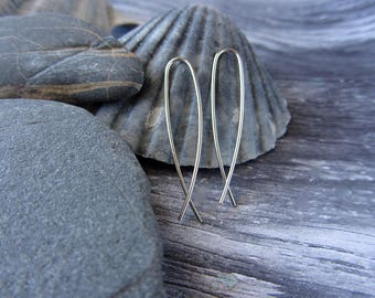 Silver Wire Earrings Threaders