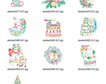 Christmas-ColorLine. ( 10 Machine Embroidery Designs from ATW )