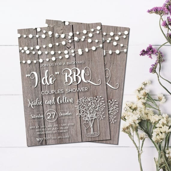 Rustic Couples Shower Invitation
