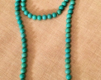 Doube Wrap Turquoise Necklace