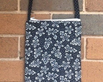 Black and white cross-body bag
