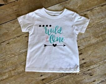 Wild and One Birthday Shirt, Wild One Shirt, First Birthday Shirt, Girl Birthday Shirt, Boy Birthday Shirt, Birthday Outfit,1st Birthday