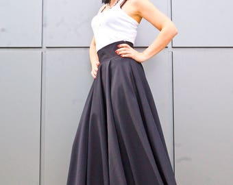 NEW Black Skirt / Women Long Plus Size Skirt / Women's Clothing / Loose Skirt / Long skirts for women / Maxi Plus Size Skirt / Maxi skirt