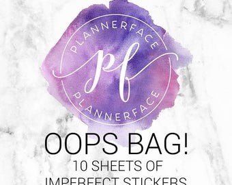 OOPS BAG! - 10 SHEETS | Planner Stickers