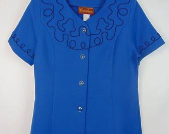 Vintage Blue Fitted Jacket