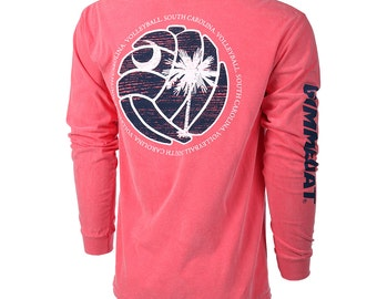 State of Mine: South Carolina Volleyball Long Sleeve T-shirt, Volleyball Shirts, Volleyball Gift - 2 Colors, Free Shipping!