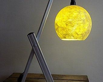 table lamp aluminium Lampshade fiberglass