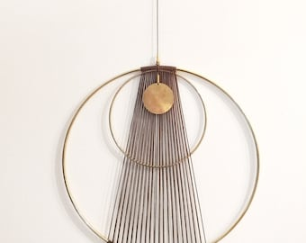 Boho chic Modern brass Wall Hanging