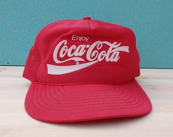 Vintage 80's Coca-Cola snapback mesh cap