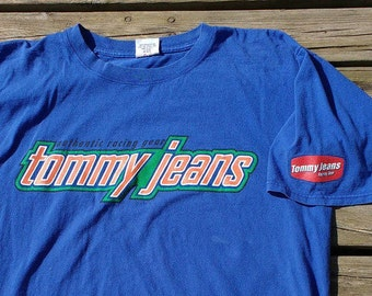 90's Tommy Jeans Authentic Racing Gear Vintage T-shirt XL Made in USA