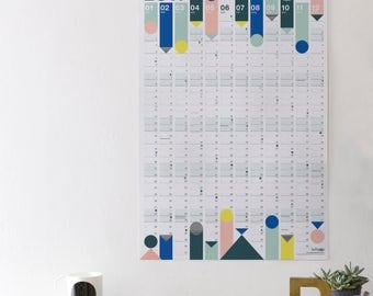 2017 Pastel Wall Calendar - reduced price -