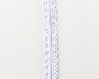 White Zipper - Purse Sewing Zipper - Lace Zipper - Zippers 12 Inch - Purse Zippers - Zippers for Bags - Sewing Zippers - Handbag Zippers