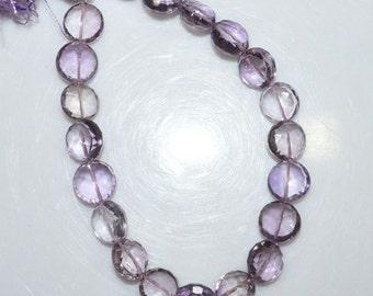 """Natural Pink Amethyst Faceted Round Shape Beads - Pink Amethyst Round Shape Briolette , 9.50 - 10.50 mm , 8"""" , BL1462"""