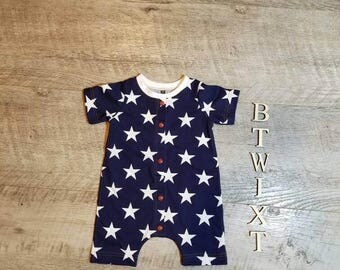 10% of sale goes to Wounded Warrior Project! Independence day outfit! Patriotic baby shorties! Made to order sizing!