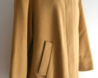 Vintage St Michael Camel wool Coat UK Medium