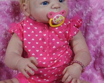 Ava Reborn Baby Doll Full body Vinyl Silicone 23 inch Girl Baby doll Anatomically correct