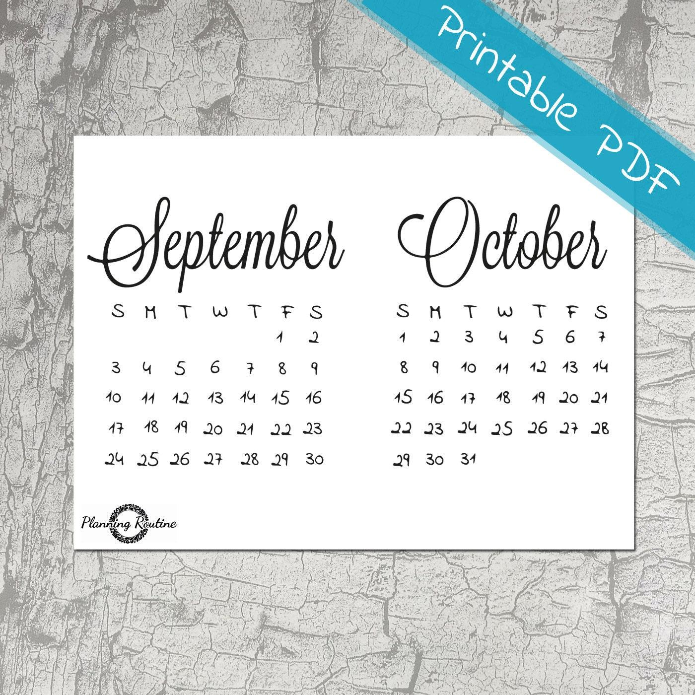 September October Calendar 2017, Monthly Planner,September ...