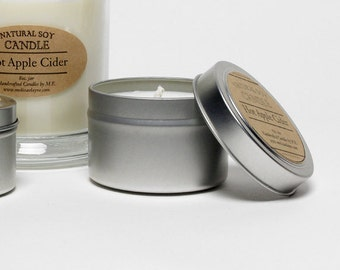Soy Candle, Scented Natural Soy Candle, 4 oz Tin