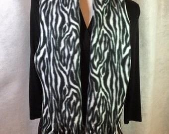 Zebra Fleece Scarf