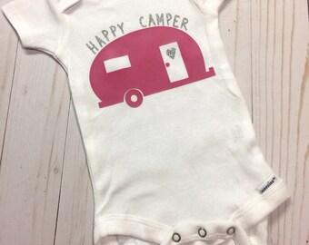 Happy Camper Baby Onesie Bodysuit
