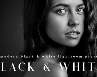 25 Professional Black & White Lightroom Presets Professional Photo Editing for Portraits, Newborns, Weddings By LouMarksPhoto