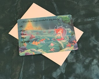 Disney Ariel Party Invitations *Pack Of 10*