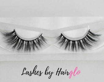 100% Mink Eyelashes, 'Sweet & Sassy' Style Fluttery Lashes, Mink Fur, Falsies, Mink Lashes, False Eyelashes, Hairglo UK