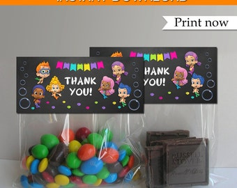 Bubble Guppies Bags Toppers, Bubble Guppies treat bags, Bubble Guppies Favor Bag Toppers, INSTANT DOWNLOAD, Digital File