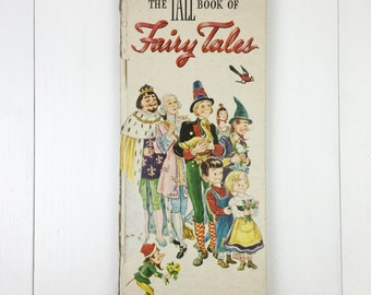 Vintage 1946 TALL Book Of Fairy Tales
