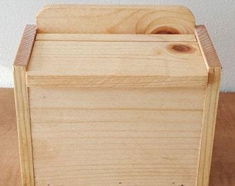 Wood 4x6 Recipe Box~Hand Crafted 4x6 Pine Recipe Box