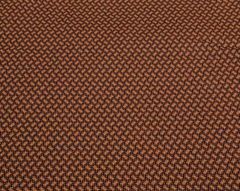 Brown Patterned Cotton Fabric
