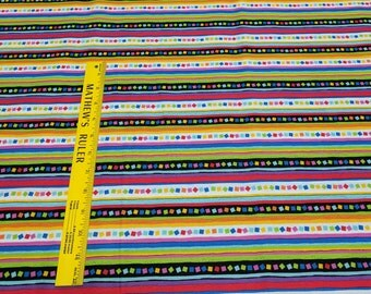 Project Linus Striped Print Cotton Fabric from Quilting Treasures