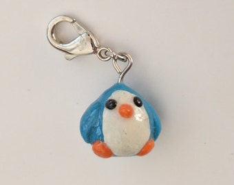 Blue penguin charm
