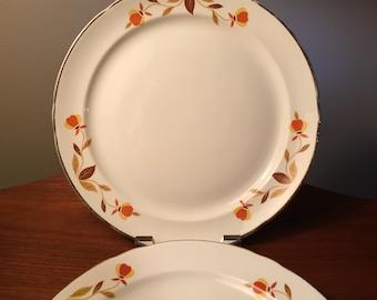 Two Halls Superior Jewel Tea Autumn Leaf breakfast plates