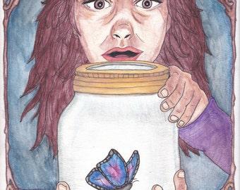 The Finding Fantasy Illustration Art Print