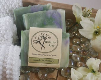 Lavender & Rosemary Soap, Natural Soap, Handcrafted Soap, Natural Bar Soap, Vegan Soap, Essential Oil Soap