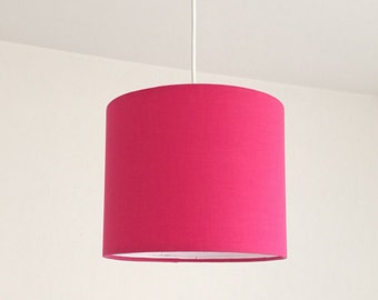 Lampshade pink, fuchsia drum lampshade, modern lampshade, girl chandelier, baby lampshade, shabby chandelie for girl