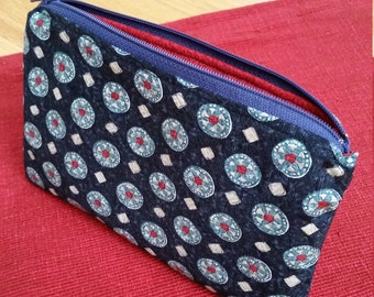 Necktie zipper purse