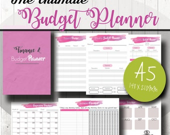 A5 Budget planner, Budget planner bundle, Finance and budget, Bill checklist, Saving tracker, Password Log, Daily expense tracker, PDF