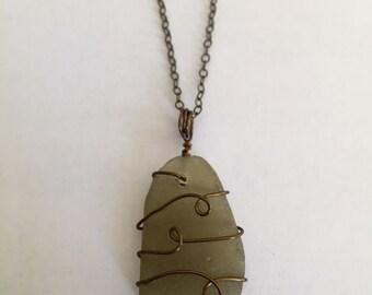Rare Sea Glass Necklace