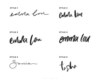 Custom Hand Lettered Design / Logo / Blog Header / Blog Signature / 6 Styles to choose from!