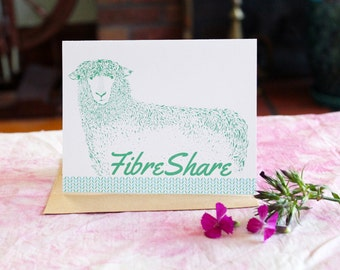 FibreShare Notecard | FibreShare Card | Sheep Card