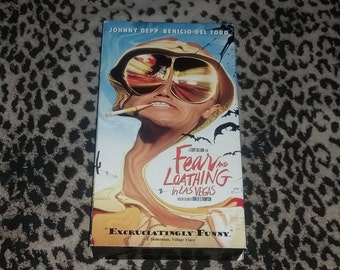 Fear and Loathing In Las Vegas [VHS] Terry Gilliam Johnny Depp Vhs Benico Del Toro Vhs Hippie Cult LSD Drug Movie Gonzo Hunter S. Thompson