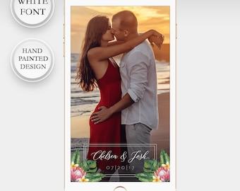 White Wedding Snapchat Filter Snapchat Filter Tropical Wedding Geofilter Wedding Geofilter Glitter Wedding Snapchat Filter Personalized