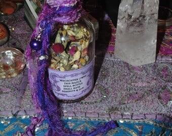 Spell Bottle, Serenity Spell Bottle, Joy Spell Bottle, Herbl Magick, Ritual Spell Bottle, Witches Spell Bottle, Herbs, Witchcraft, Spells